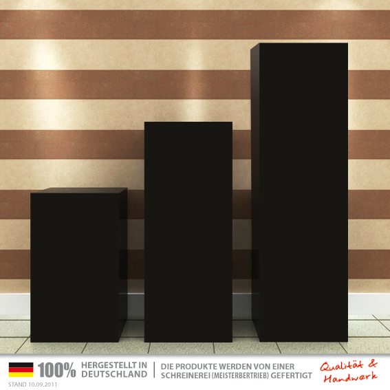 designersockel schwarz 30x30x100cm galeriesockel schwarz 30x30x100cm. Black Bedroom Furniture Sets. Home Design Ideas