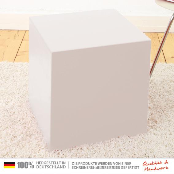 40 x 40 x 45 cm wei universal sitzw rfel tischw rfel. Black Bedroom Furniture Sets. Home Design Ideas